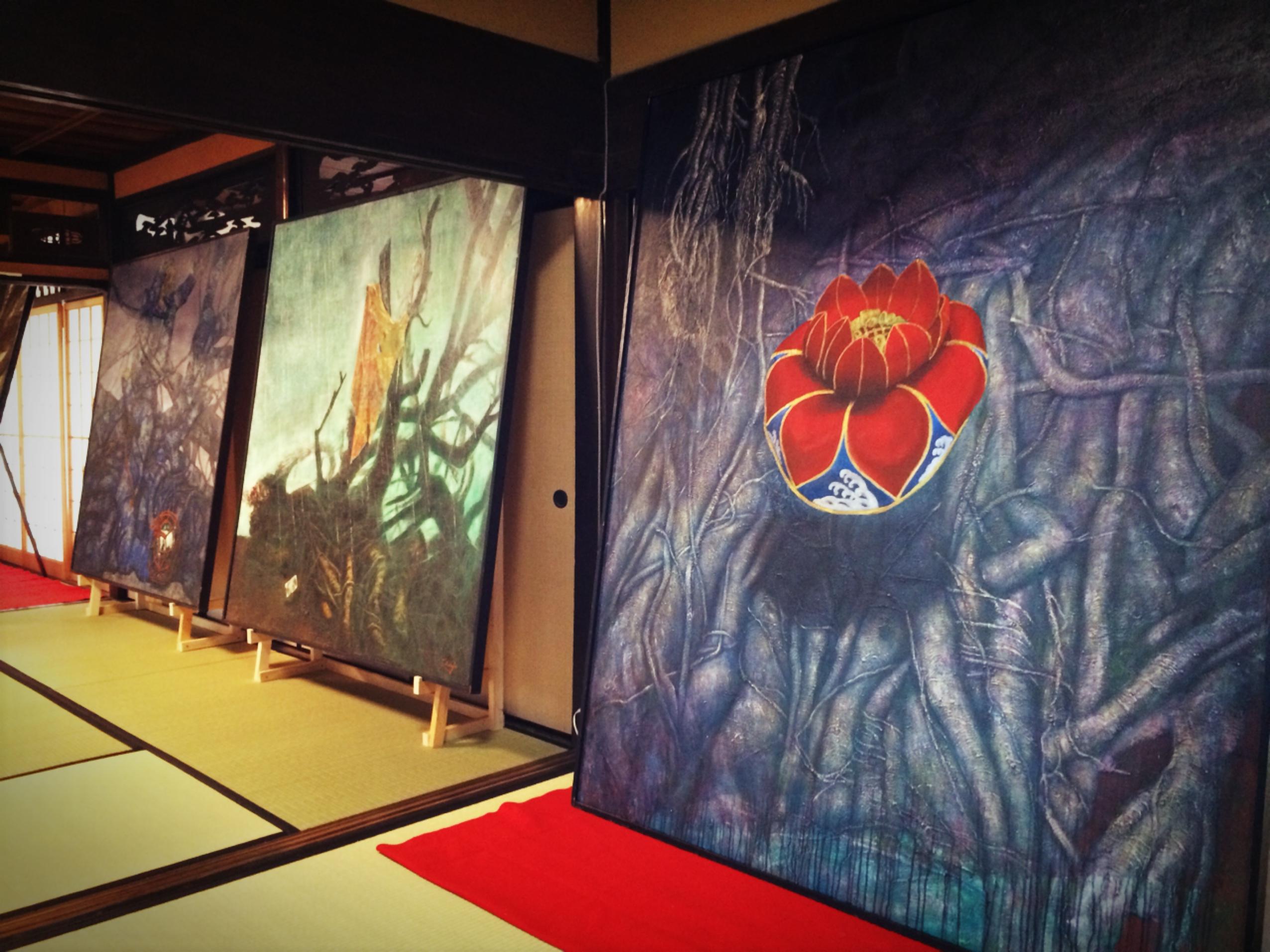 開幕のテンペスト!作城妙子個展『神々の宴』