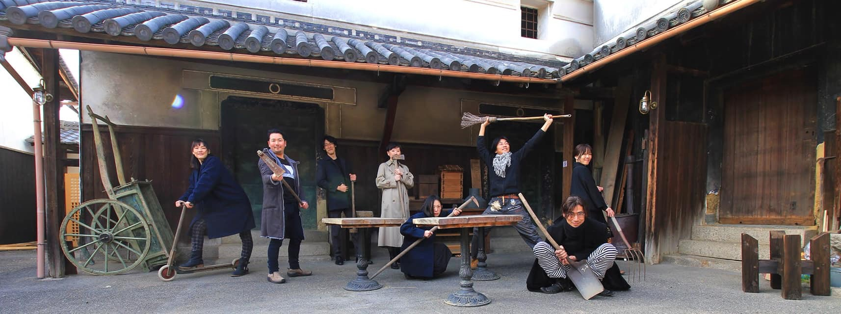 八人の武士 -もののふ-『New Traditional Art -道- 〜己を貫く8本道〜』